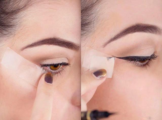 Truco de maquillaje para delineado cat eye