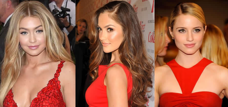 Maquillajes naturales para vestido rojo