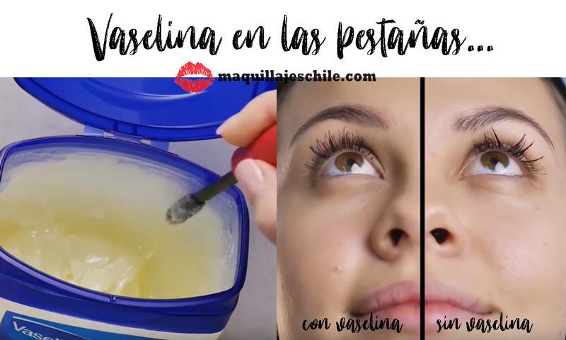 Vaselina para las pestañas - Trucos de maquillaje
